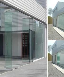 oficinasideal_puertas plegables en vidrio templado1